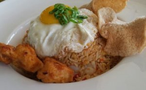 Nasi Goreng with Chicken Satay @ The Noodle House